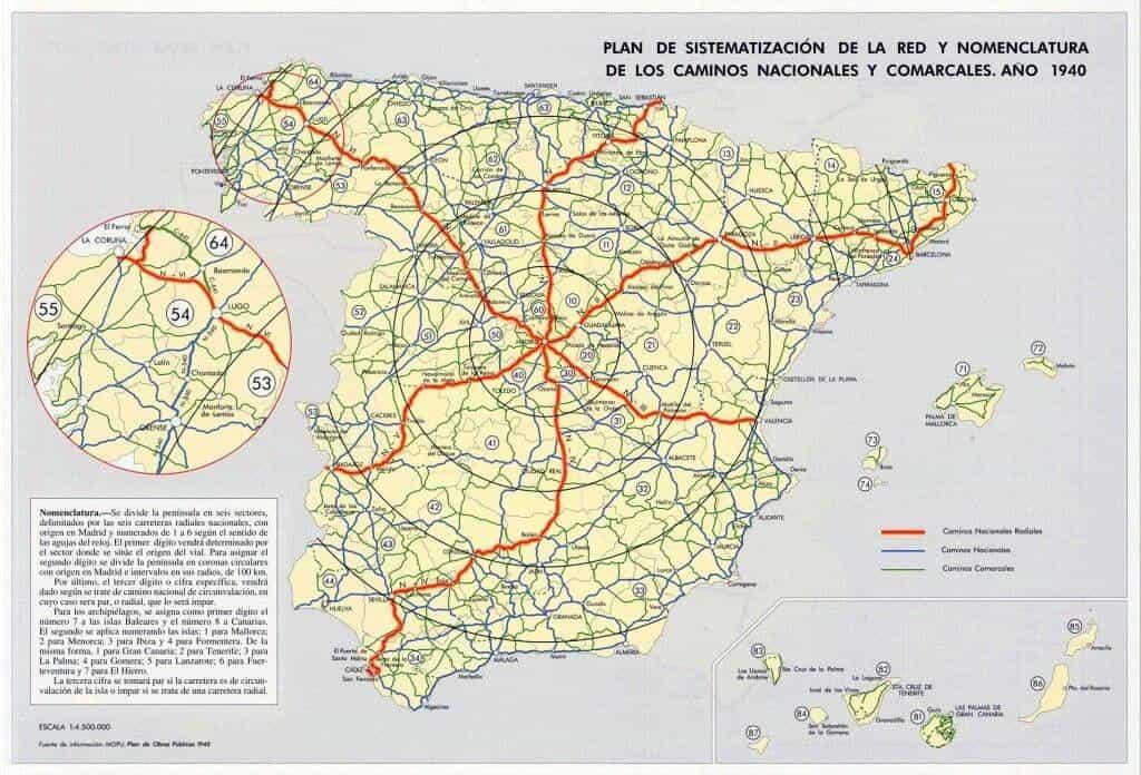 Plan de carreteras Franquismo