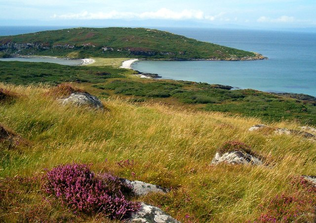 Tombolo between Gigha and Eilean Garbh