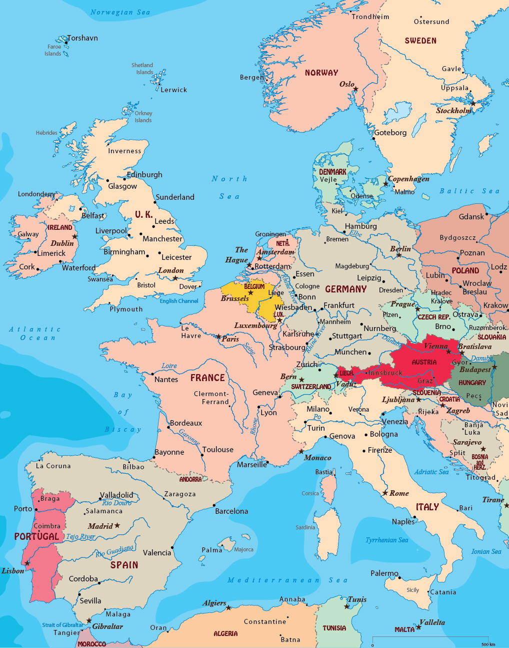 Map West Europe
