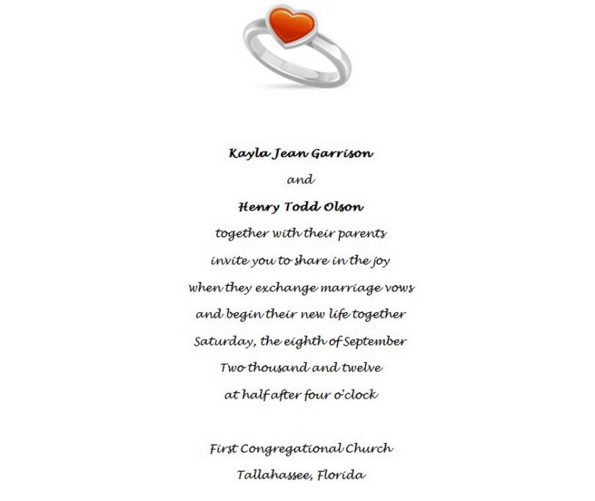 Wedding Invitations Bride And Groom Both Pas Wording 1