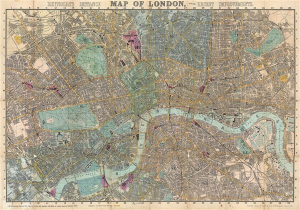 Reyonlds s Distance Map of London with the Recent Improvements     Reyonlds s Distance Map of London with the Recent Improvements