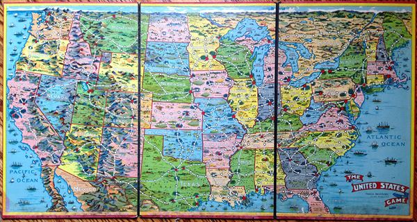 Current quiz contains 50 state capitals. The United States Game Geographicus Rare Antique Maps