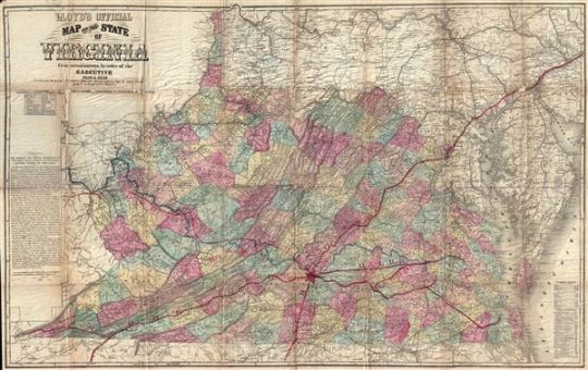 Lloyd s Official Map of the State of Virginia From actual surveys by     Lloyd s Official Map of the State of Virginia From actual surveys by order  of the Executive