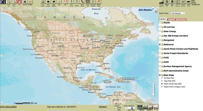 GeoCommunicator by the Bureau of Land Management (BLM)