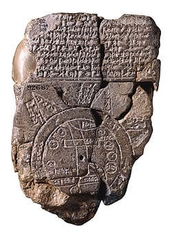 Imago Mundi from Babylonia, 500 BCE.