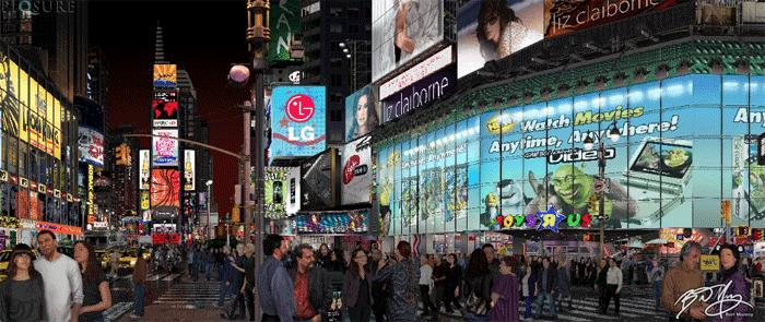 Times Square by Bert Monroy.