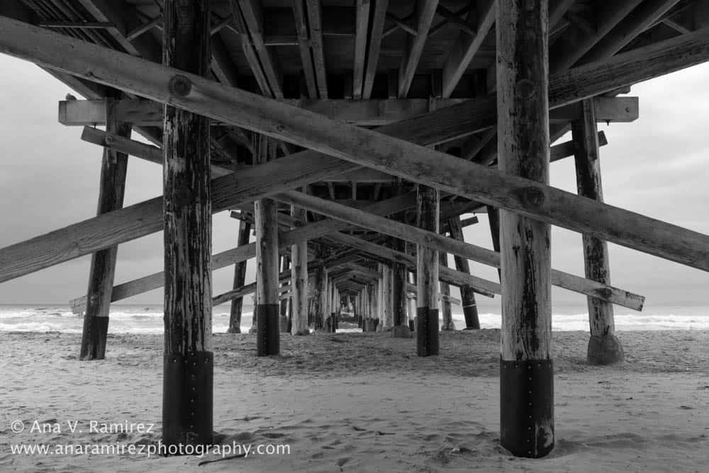 "According to Ramirez, the lack of center posts underneath Newport Pier makes it a ""photographer's dream."""
