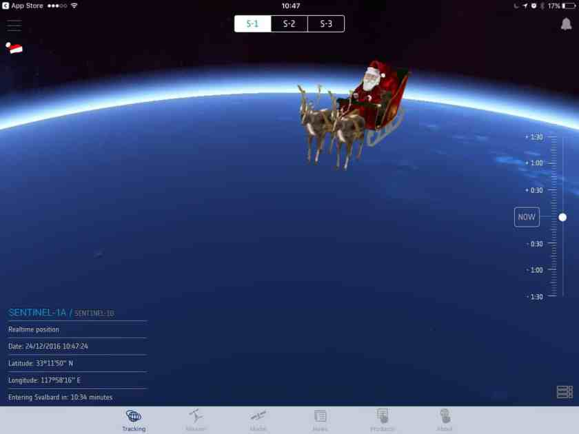 Now You Can Track Santa With Esa S Updated Sentinel App Geography Realm