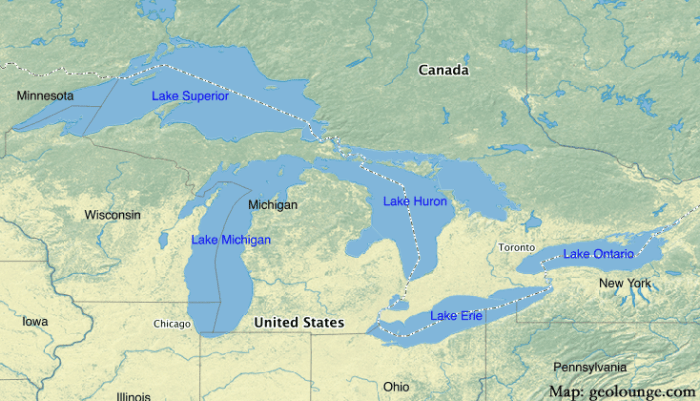 great lakes north america map Geography Mnemonics To Help Learn About The Great Lakes great lakes north america map