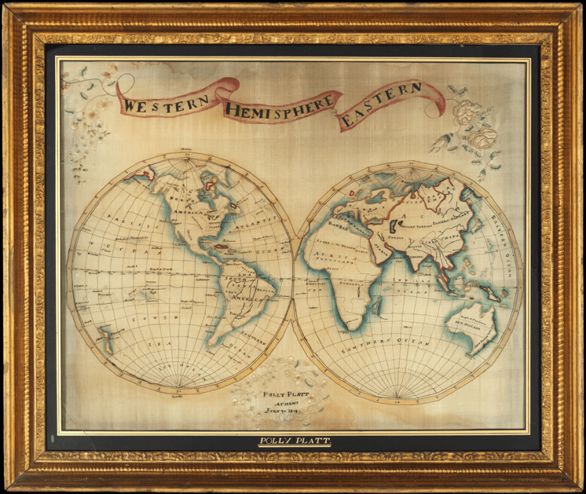Double-hemisphere map of the world, 1809. Metropolitan Museum Museum of Art, New York, NY.