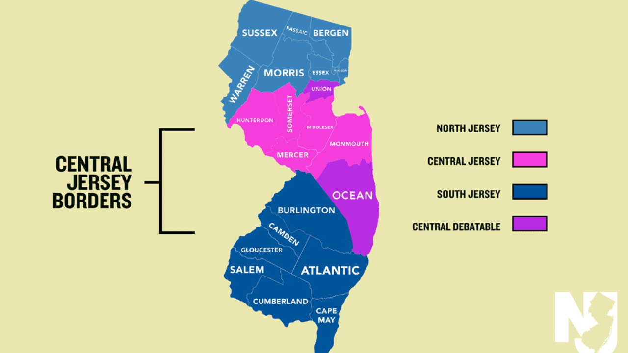 Central New Jersey Map The Politics of Defining Central New Jersey   Geography Realm