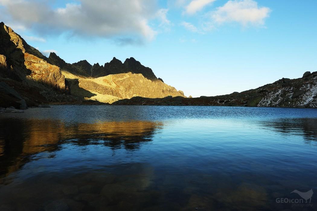 Podlesnianské lake and Stredohrot peak