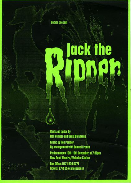 1998 Jack the Ripper Flyer