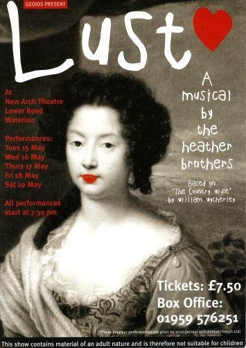 2001 Lust! Poster