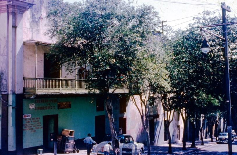 Calle del Cristo esq. Caleta de San Juan (1954)