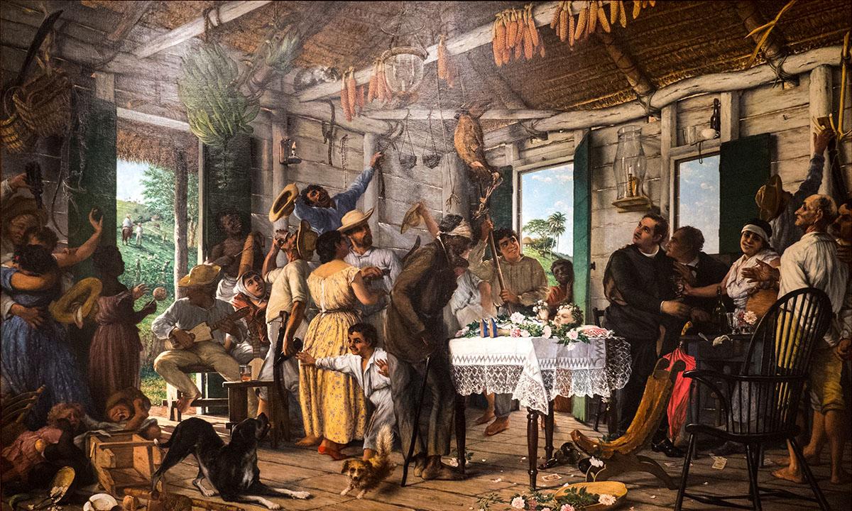 Las Pinturas que te Gustan; El-Velorio-Francisco-Oller-c1893