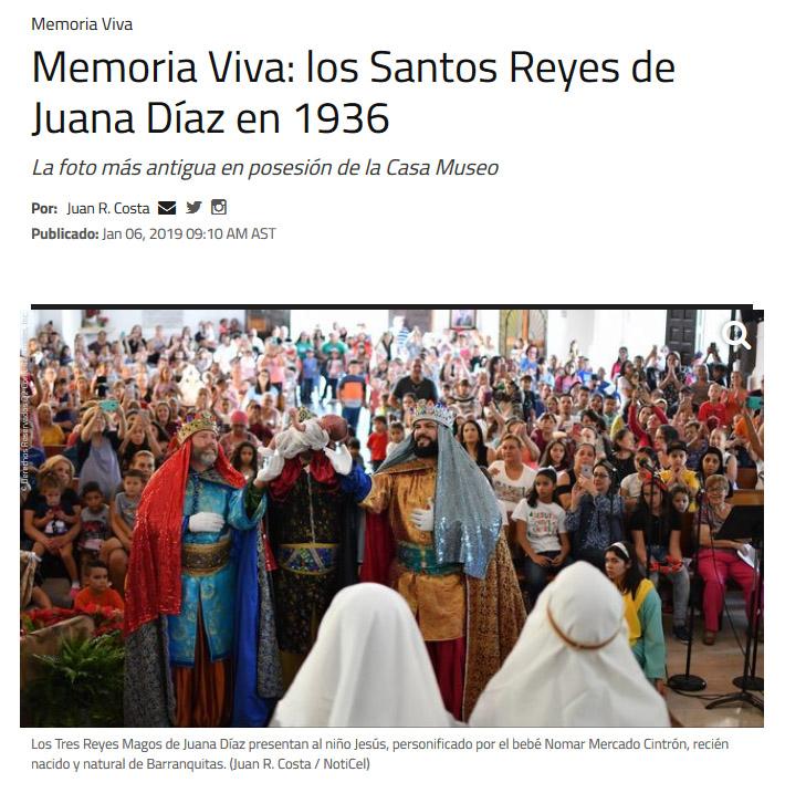 NotiCel - Memoria Viva: los Santos Reyes de Juana Díaz en 1936