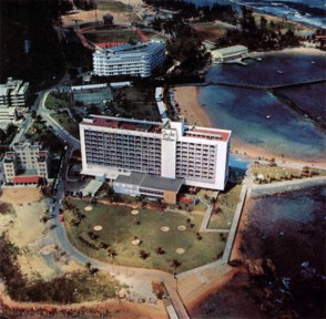 The Caribe Hilton Hotel, in San Juan, is one of the most famous in the entire Caribbean area. It was built in 1948 by the Puerto Rican government in order to stimulate the tourist industry, a plan so successful that other big luxurious hotels have been built since and more are planned for construction soon.