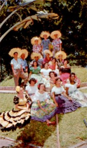 The Hats are typical Puerto Rican pavas, made and worn by the country people. Highly musical, the Puerto Ricans are famous for the beauty and originality of their songs.