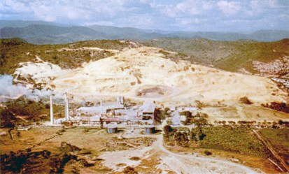 The Ferré Industries, which operate this cement plant, comprise Puerto Rico's largest industrial organization, with iron works and factories for making bottles, clay products, paper, cardboard, and other things.