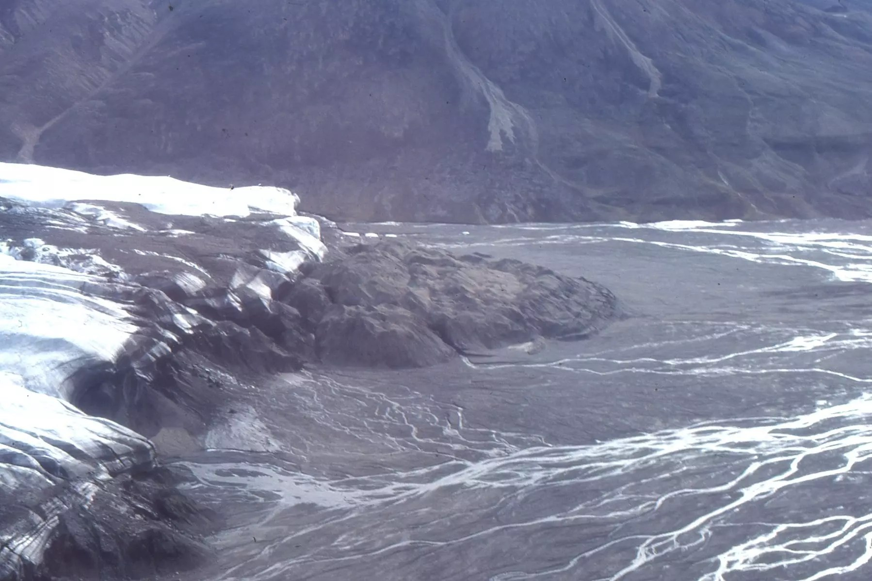 Part Of The Strand Glacier Terminal Moraine Meltwater And Outwash Channels Sediment Eventually Finds Its Way To Fiord