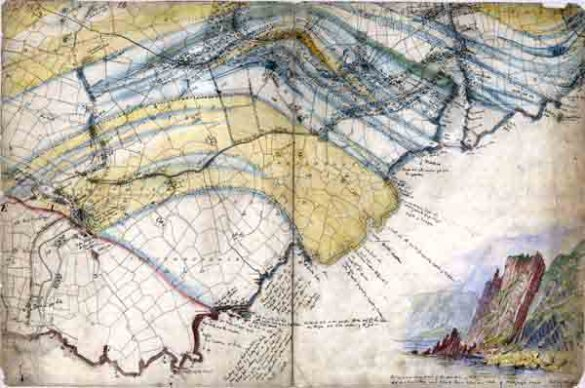 History   Irish historical geological maps   GSI   GSNI   BGS GSI field sheet showing the Stradbally area of Co  Waterford 6 inch sheet  No