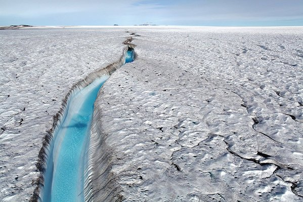 Zachariae Isbræ, northeast Greenland. Credit: Anders A Bjørk