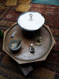 Table honouring the directions geomancy training