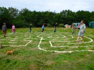 labyrinth walking geomancy training