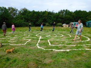labyrinth walking geomancy training