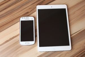 tablet and cellphone