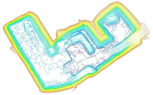 Calcul du Modèle Numérique de Terrain et des courbes de niveau