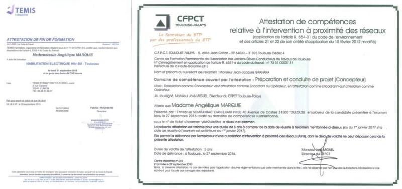 Autorisation d'Intervention à Proximité des Réseaux (AIPR) - Habilitation Electrique (H0vB0)