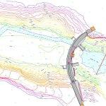 Plan topographique et profils du barrage
