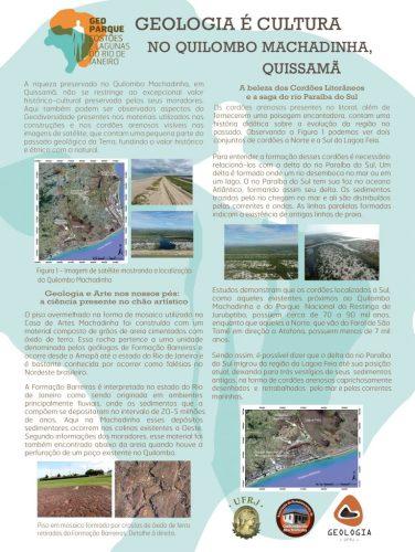 Geologia é Cultura - No Quilombo Machadinha, Quissamã