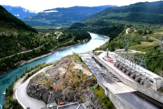 Revelstoke Dam spillway