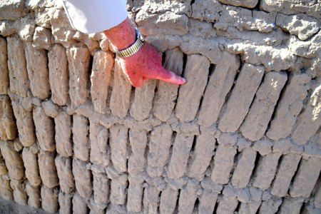 Bookshelf construction using adobe bricks probably made the structures at Huaca Pucllana somewhat earthquake resistant.