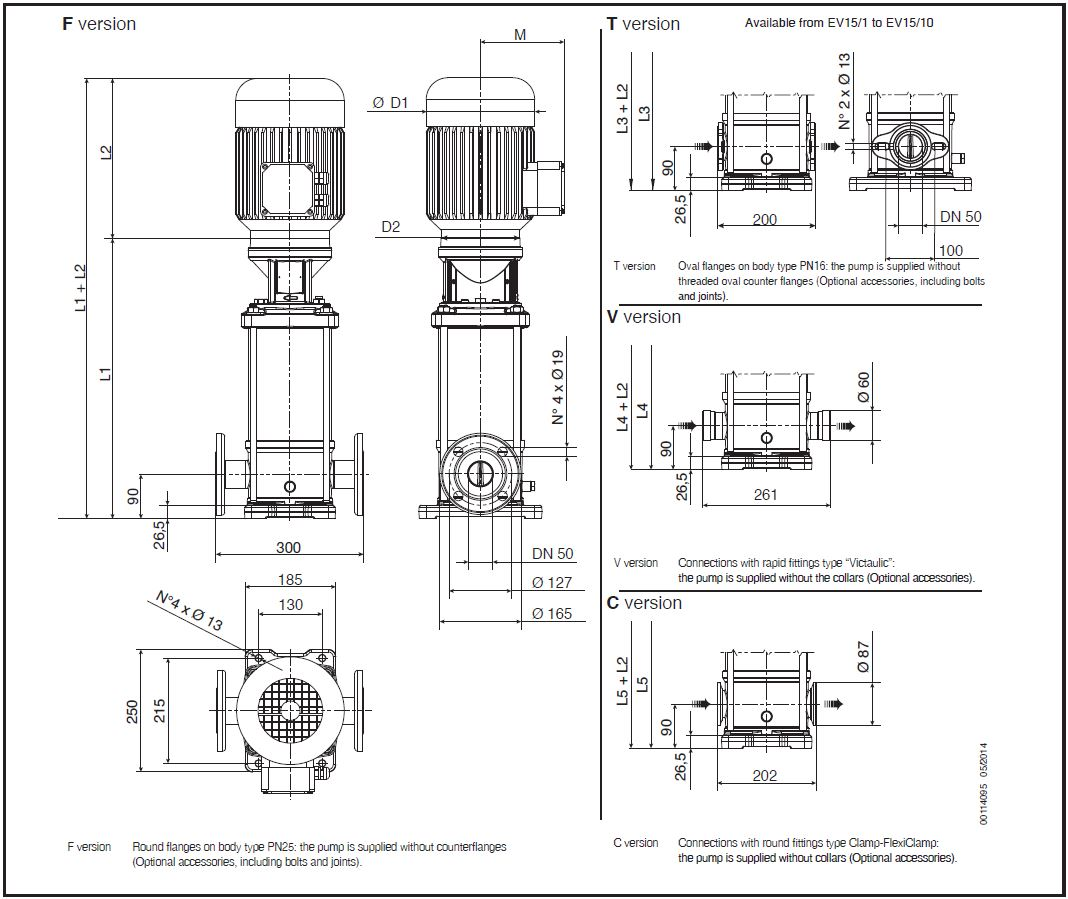 Ev 15 Vertical Multistage Pump