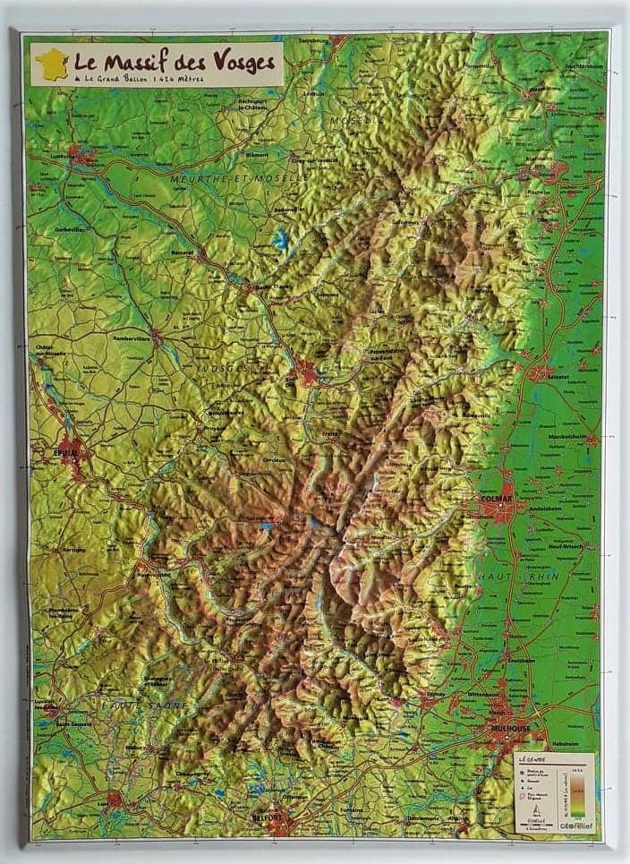 Cartes Geographiques En Relief Georelief