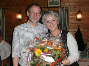 Christa und Hasch bei der Feier im Gasthaus Fink