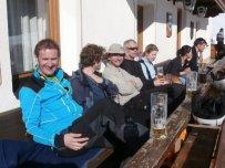 Nach der Tour beim Klammerwirt: das Bier hat schon mal schlechter geschmeckt!