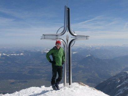 Immer wieder ein schönes Gefühl, am Kuchler Hausberg zu stehen (Hohel Göll, 2.533m)
