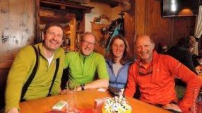 Das Team der 2. Tour zum Karkogel: Matthias, Felix, Renate und Georg
