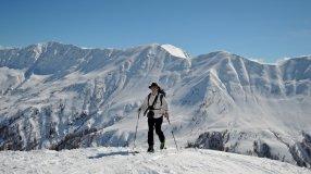 Pürgleskunke: Blick zum Marchkinkele und zu den Sextener Dolomiten