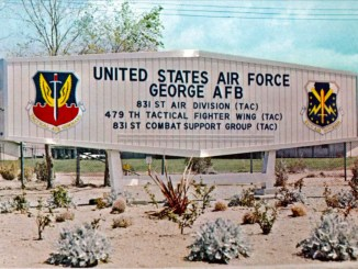 George Air Force Base Front Gate