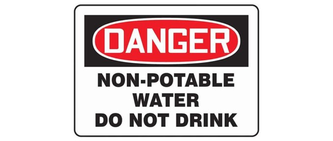 Danger Non-Potable Water