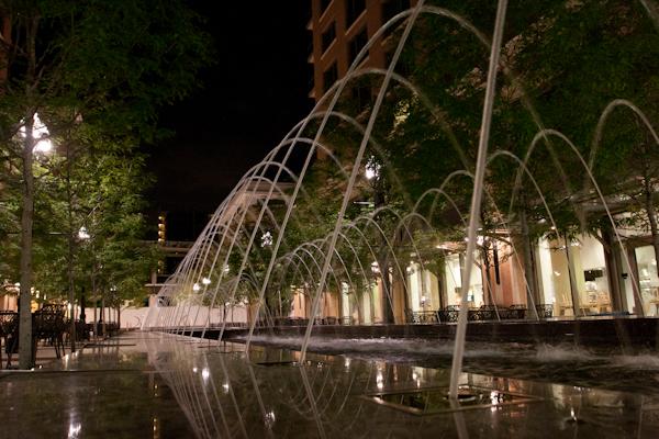 Salt Lake downtown at night