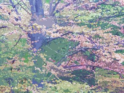 art rendition of copper beech