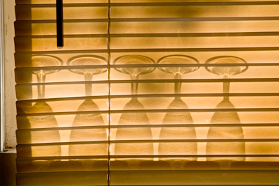 blinds and glasses