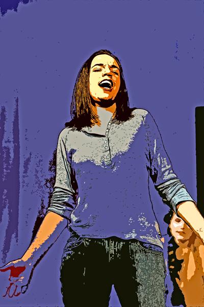 Emily sings